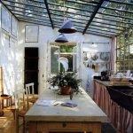 Стеклянная крыша в интерьере